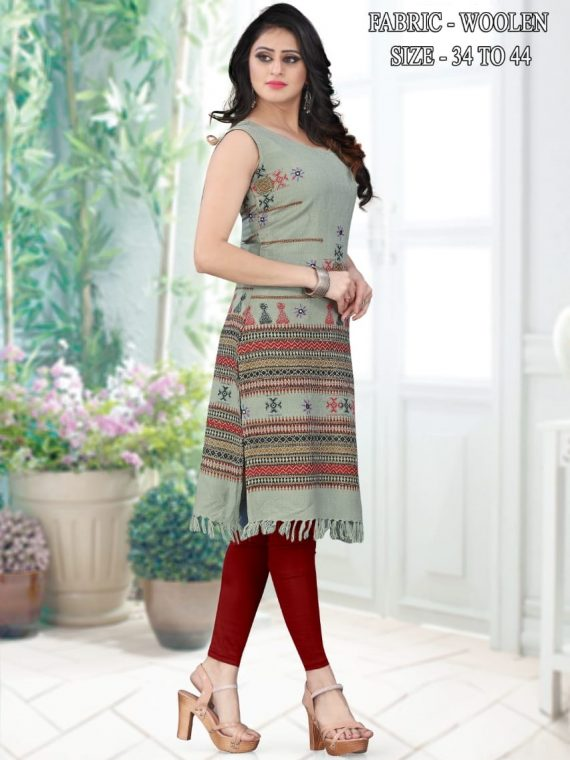 stylish-woollen-dress